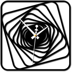 Stylesa - Ceas de perete Desing plexiglas HARBOR și negru X0093