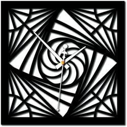 Stylesa - Plexiglas mozaic modern cu ceas de perete și X0082 negru