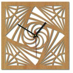 Sentop - Ceas de perete MDF pentru bucătărie HDF16 și negru