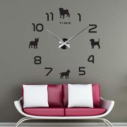 Sentop - DIY Câine de ceas de perete și negru SZ069