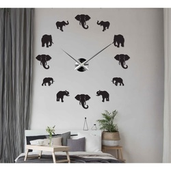 Sentop - Ceas de perete modern pe perete de elefant și aur SZ070