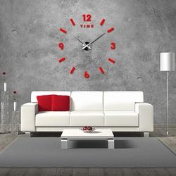 Moderné nástenné hodiny. Mobiola červené .
