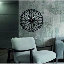 SENTOP - Ceas de perete din plexiglas geometric TOMARR și negru X0097