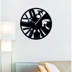 SENTOP - Ceas de perete modern pentru salonul OMARR și X0098 negru