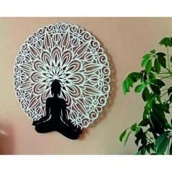 Sentop - Imagine Mandala 3D pe peretele designului de culoare mandala Buddha