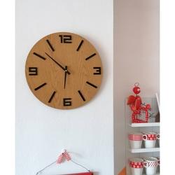 Sentop - Ceas de perete din MDF numere negre ARRARA