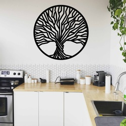 Stylesa - Pictură din lemn pe un perete de copac