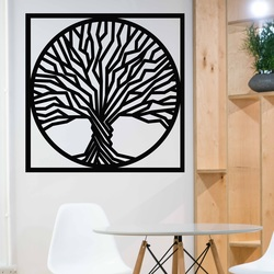Sentop - Drevený obraz na stenu strom v ráme