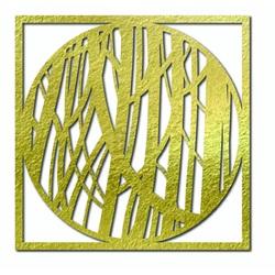 Sentop - Imagine pe un perete de placaj de lemn HOGGFOG pătrat
