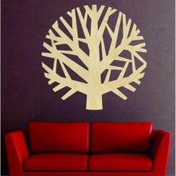 Sentop - Holzgemälde an der Wand eines Baumes aus Sperr holz HOGGFO  IIG