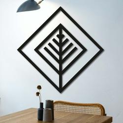 Pictură modernă pe perete - pătrat decorativ din lemn ATALY | SENTOP