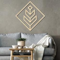 Nowoczesny obraz na ścianę - drewniana dekoracja kwadrat DALYO   SENTOP