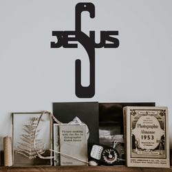 Decoratiuni de cruce din lemn - Isus, dimensiune-250x180 mm