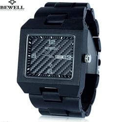 Lemn negru ceas de mână. Bewell