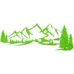 Tablou din lemn pe perete - Munţi MONTAS | SENTOP