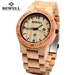Din lemn de arțar lumina ceas de mână. Bewell