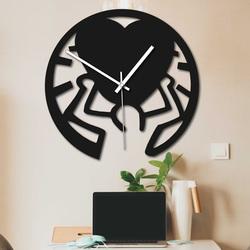 Ceas din lemn - dragoste pe umeri negru și colorat | SENTOP PR0420