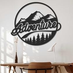 Pictură din lemn pe perete cu un motiv natural - ADVENTURE | SENTOP