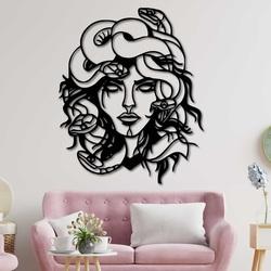 Pictură magică pe perete femeie - MEDUSA GORGONA | SENTOP