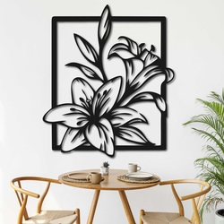 Laser cut wooden wall decor beautiful lily - INNOCENCE   SENTOP