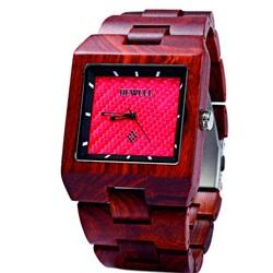 Ceas de mână din lemn roșu închis Jane. Bewell