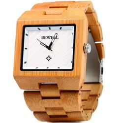 Lumina ceas de mână din lemn maro George. Bewell