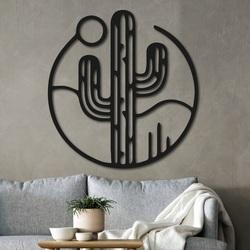 Tablou din lemn pe peretele unui cactus cu soarele - NIAMEY | SENTOP