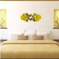 Mirror DIY decoration .Abstract golden circles. Size: 60x 40 cm