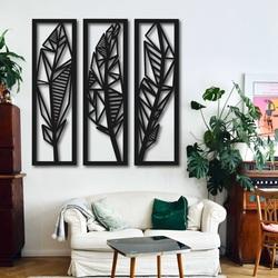 Imagine modernă în trei părți a frunzelor de bananier - MUSACEAE | SENTOP