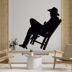 Elegantes Holzbild an der Wand - COWBOY | SENTOP