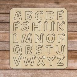 Insert montessori din lemn pentru copii - ALFABETUL | SENTOP