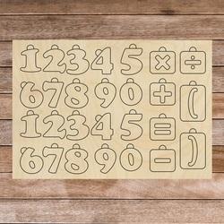 Ajutor senzorial din lemn Montessori - Matematică| SENTOP H017 Plop