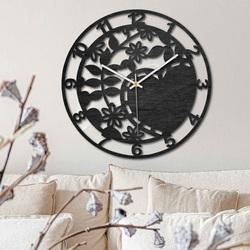 Ceas din lemn - natură încântătoare - negru și natural | SENTOP PR0446