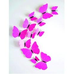 Matrica rózsaszín pillangó - 1 csomag tartalma 12 db