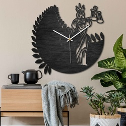 Ceasul zodiacal - Balanță - negru și natural | SENTOP PR0447