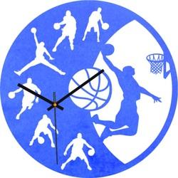 Ceas din lemn - Baschet - Negru și colorat | SENTOP PR0449
