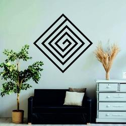 Pictură modernă pe perete - decor din lemn