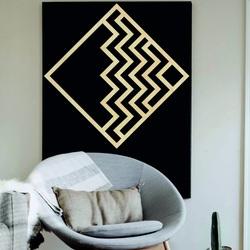 Pictură modernă pe perete - pătrat decorativ din lemn FORNET | SENTOP