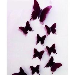 3D Lipi pe fluturi - ciocolata Brown - 1 pachet conține 12 bucăți