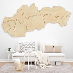 Harta de perete din lemn Slovakia - 8 bucăți   SENTOP