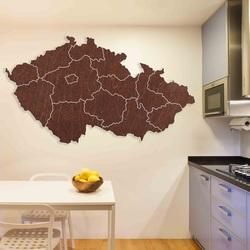 Harta de perete din lemn Republica Cehă - 14 bucăți | SENTOP