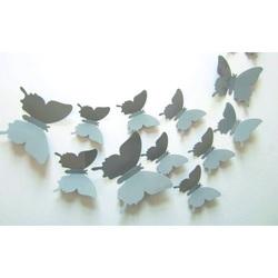 3D fluturi adeziv gri - 1 pachet conține 1 bucăți