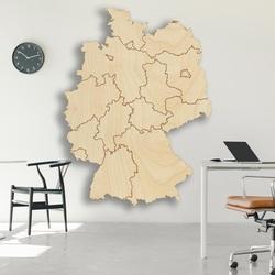 Harta de perete din lemn Germania - 16 bucăți | SENTOP