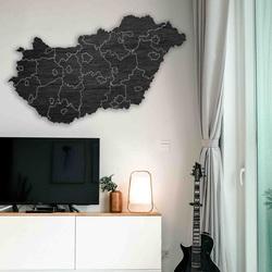 Harta de perete din lemn Ungaria - 40 bucăți | SENTOP