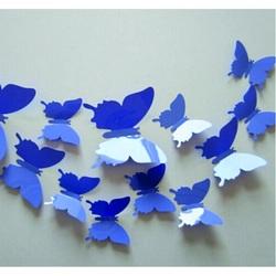 3D autocolante creative - violet fluture - 1 pachet conține 12 bucăți