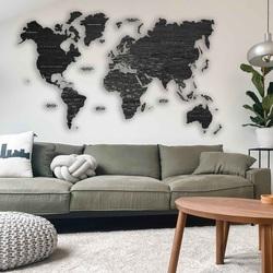 Harta de perete din lemn - întreaga lume   SENTOP M012