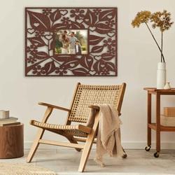 Rama foto din lemn pe perete - dreptunghi - până la 60 x 80 cm