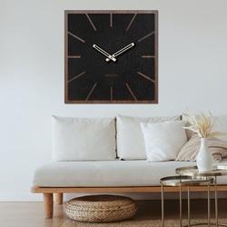 Ceas de perete din lemn HDF Nuc - până la 50 x 50 cm