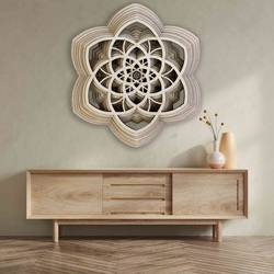 Imagine 3D Sentop Mandala pace naturală până la 90 x 100 cm