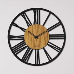 Ceas de perete din lemn cifre romane - Stejar